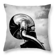 The Trumpet. Throw Pillow