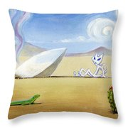 The Truth About Roswell Throw Pillow