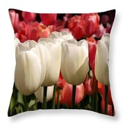 The Tulip Bloom Throw Pillow