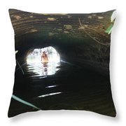 The Tunnel 2 Throw Pillow