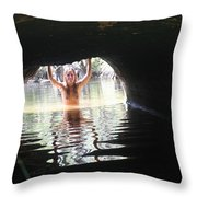 The Tunnel 6 Throw Pillow