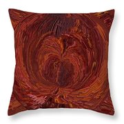 The Tunnel Red Throw Pillow