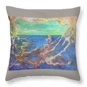 The Turbulent Sea Throw Pillow