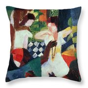 The Turkish Jeweller  Throw Pillow by August Macke