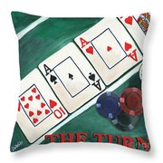 The Turn Throw Pillow