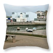 The Turner Contemporary Gallery - Margate Harbour Throw Pillow