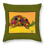 The Turtle In Lighter Colors Throw Pillow
