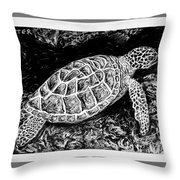 The Turtle Searches Throw Pillow
