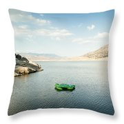 The Turtle That Got Away Throw Pillow