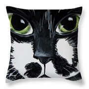 The Tuxedo Cat Throw Pillow