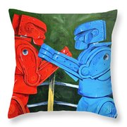 The Twelfth Round  Throw Pillow