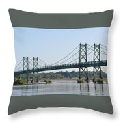 The Twin Bridges Throw Pillow