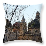 The Twin Churches Throw Pillow