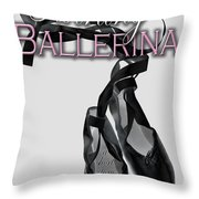 The Twirling Ballerina Cover Art Throw Pillow
