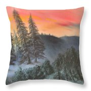 The Twisted Forest Throw Pillow