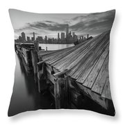 The Twisted Pier Bw Throw Pillow