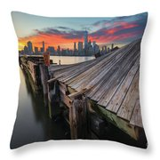 The Twisted Pier Throw Pillow