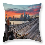 The Twisted Pier Panorama Throw Pillow