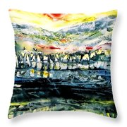 The Twisted Reach Of Crazy Sorrow Throw Pillow
