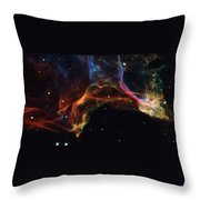 The Twisted Shockwaves Of An Exploded Star Throw Pillow