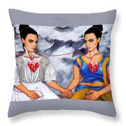 The Two Delevingnes Throw Pillow