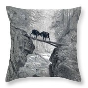 The Two Goats Throw Pillow