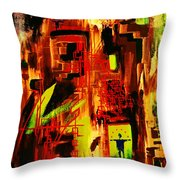 The Two Jugglers In Blue Throw Pillow