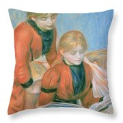 The Two Sisters Throw Pillow by Pierre Auguste Renoir