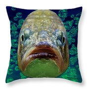 The Ugliest Fish Ever Throw Pillow