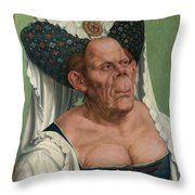 The Ugly Duchess, By Quentin Matsys Throw Pillow