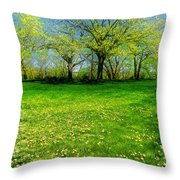 The Umbrella Tree Throw Pillow
