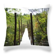 The Uncertain Path Throw Pillow