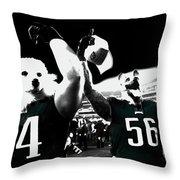 The Under Dogs Philadelphia Eagles Throw Pillow