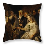 The Unequal Marriage Throw Pillow
