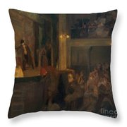The Unfaithful Wife Or The Charcoal  Throw Pillow