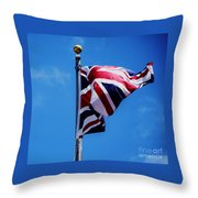 The Flag Of Great Britain Throw Pillow