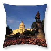 The United States Capitol, Washington Throw Pillow