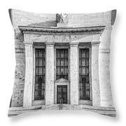 The United States Federal Reserve Bw Throw Pillow