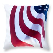 The United States Flag Throw Pillow