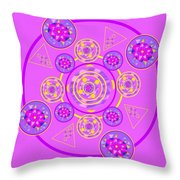 The Universal Spin Of Violet Throw Pillow