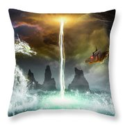 The Universe Of Dragons Throw Pillow