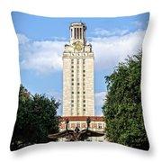 The University Of Texas Tower Throw Pillow