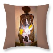 The Unknown Woman Throw Pillow