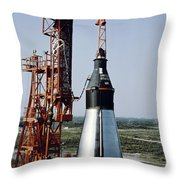 The Unmanned Mercury-atlas Capsule Sits Throw Pillow