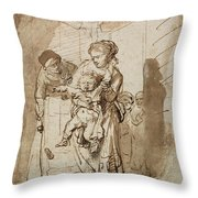 The Unruly Child Throw Pillow