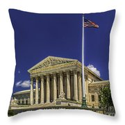 The Us Supreme Court Throw Pillow