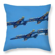 The Usn Blue Angels Throw Pillow
