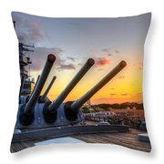 The Uss Missouri's Last Days Throw Pillow