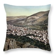 The Vale Of Nablus Throw Pillow