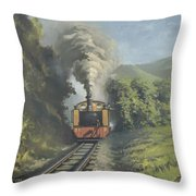 The Vale Of Rheidol Railway Throw Pillow